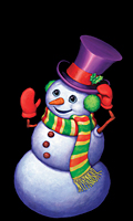 WP109 - Snappy The Snowman Window Poster