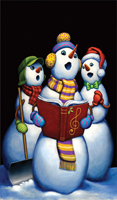 WP1117 - Carolers  Window Poster