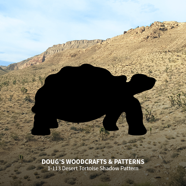 1-113 Desert Tortoise Shadow Pattern