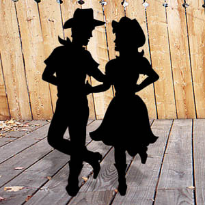 1244 - Square Dancers Shadow Pattern