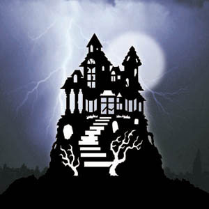 1396 haunted house shadow pattern for Yard shadow patterns