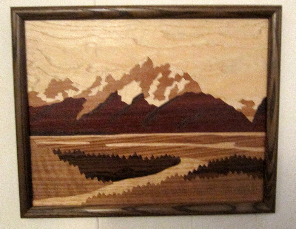 LB110 - Marquetry Landscape - Grand Tetons