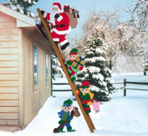 CYD7170 - Climbing Claus & Elves Pattern