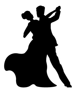 DT-119  Ballroom Dancers Shadow Pattern