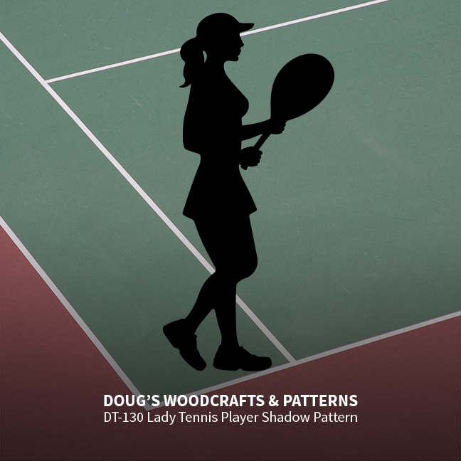 DT-130 - Lady Tennis Player Shadow Pattern