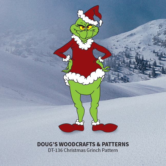 DT-136  Christmas Grinch Pattern.