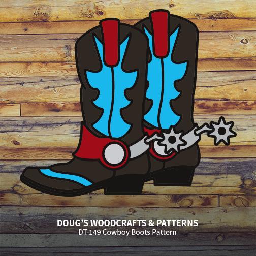 DT-149 Cowboy Boots Pattern