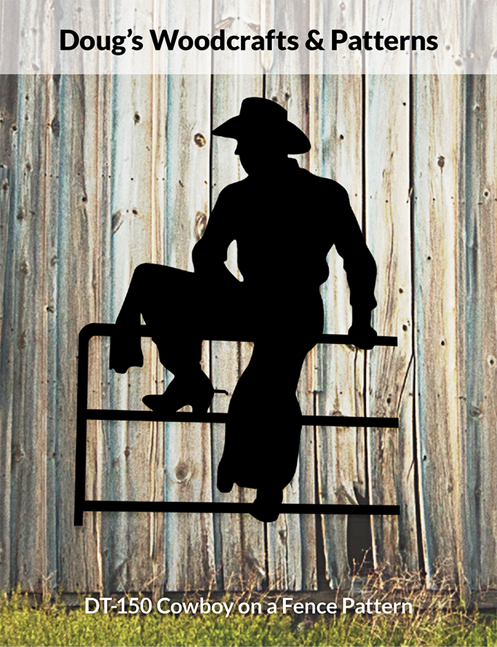 DT-150  Cowboy On A Fence Shadow Pattern