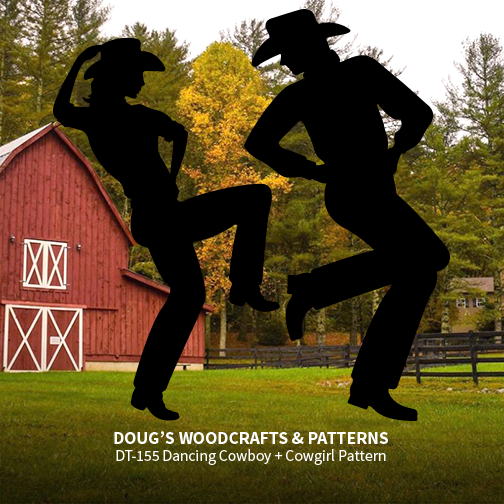 DT-155  Life-Size Dancing Cowboy & Cowgirl Shadow Patterns