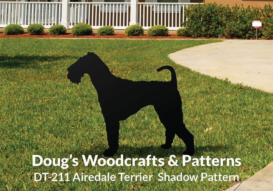 DT-211 AIREDALE TERRIER SHADOW PATTERN