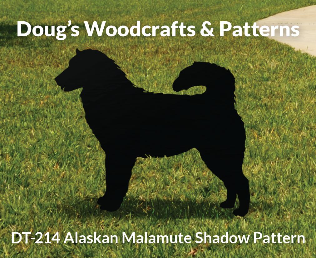 DT-214 Alaskan Malamute Shadow Pattern
