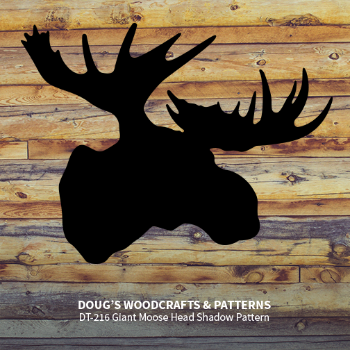 DT-216 Giant Moose Head Shadow Pattern