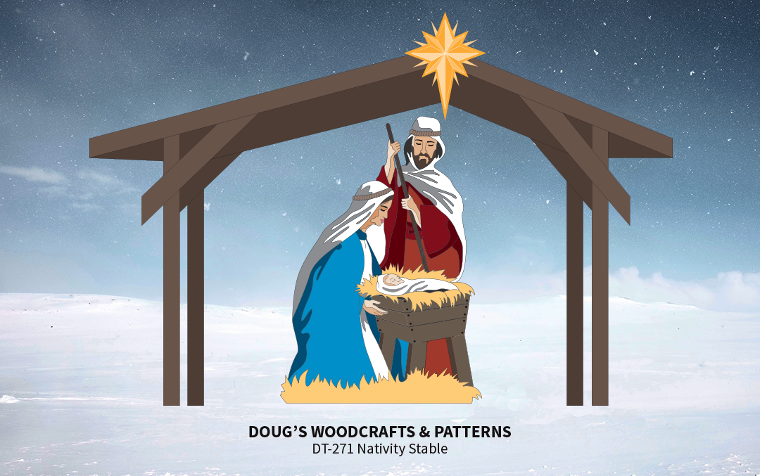 DT-268 Life-Size Nativity Stable Pattern