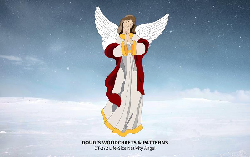 DT-272 Life-Size Nativity Angel Pattern