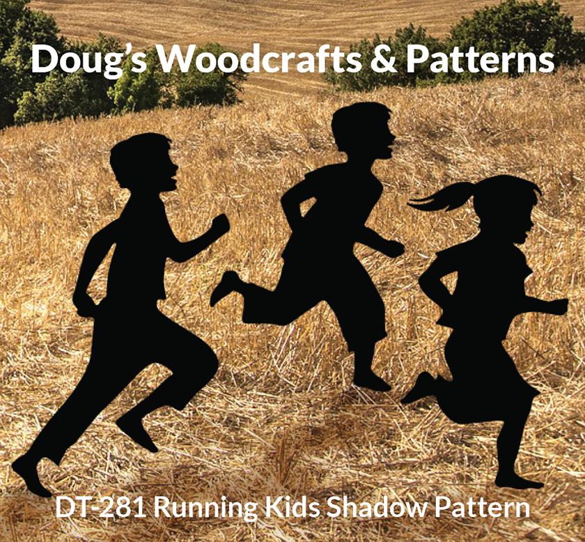 DT-281 Running Kids Shadow |Pattern