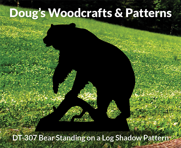 DT-307 Bear StandingOn a Log ShadowPattern