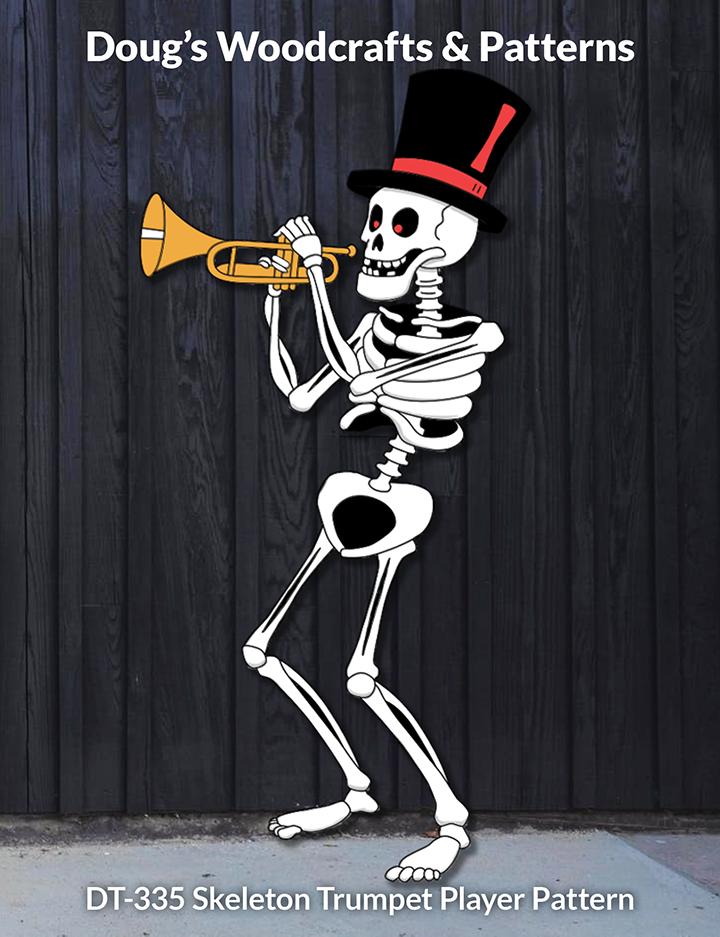 DT-335 Skeleton Trumpet Player Pattern