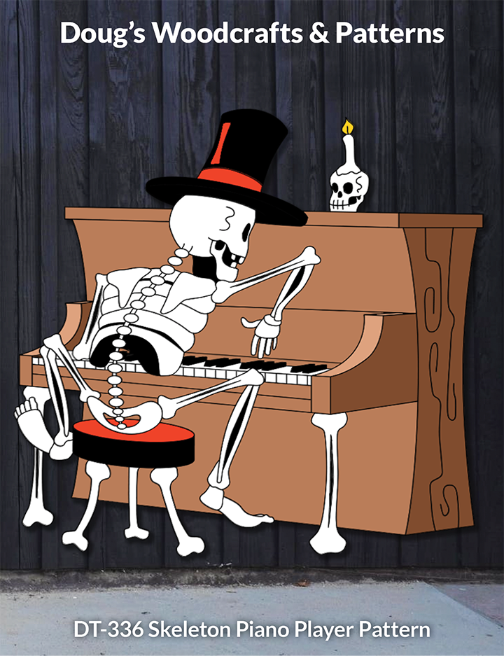 DT-336 Skeleton Piano Player Pattern