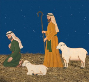 NAT10 - Life-Size Shepherds & Sheep Nativity Set