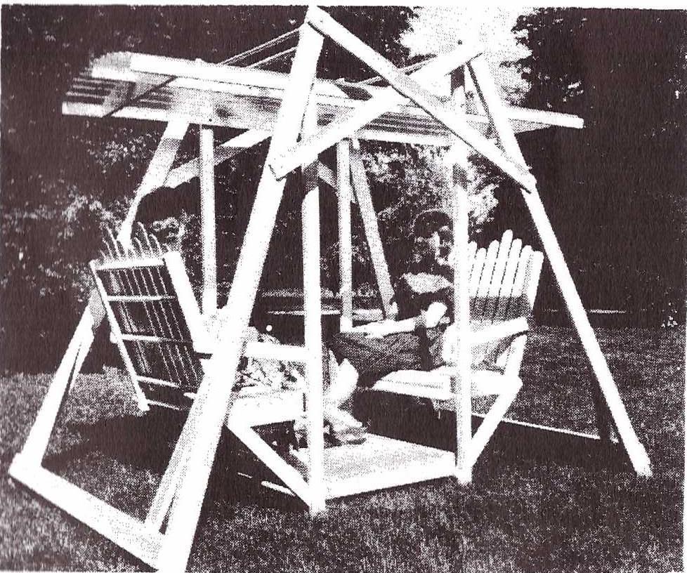 UB797 - Fold-away Lawn Swing Plan