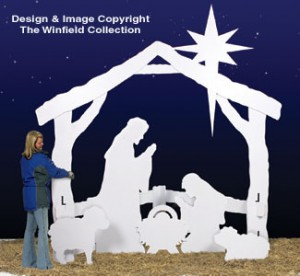 W1540CY - Life-Size Silent Night Nativity Scene