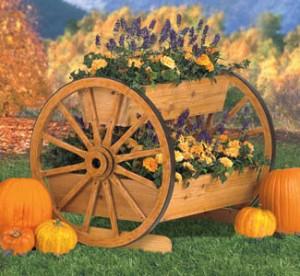 Wagon Wheel Planter Plans