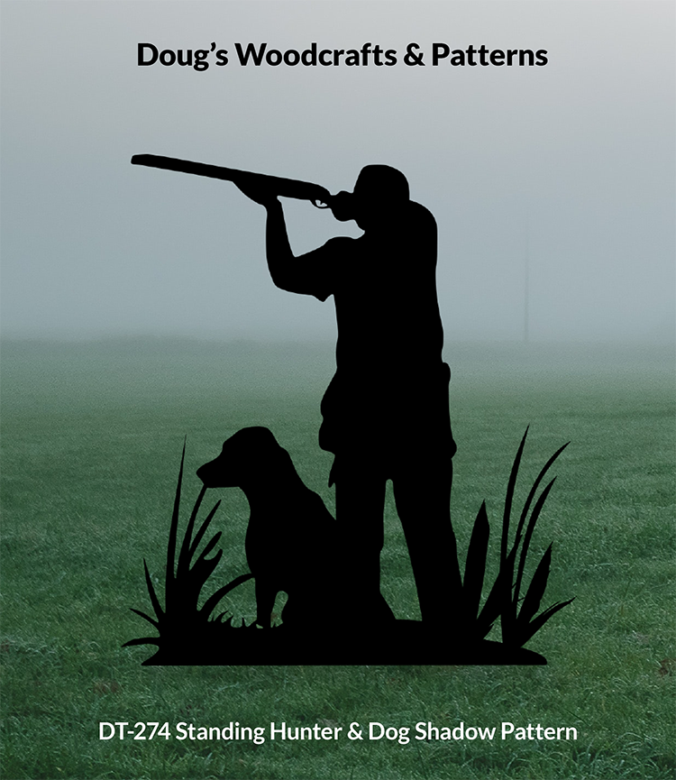 DT-274 Standing Hunter & Dog Shadow Pattern
