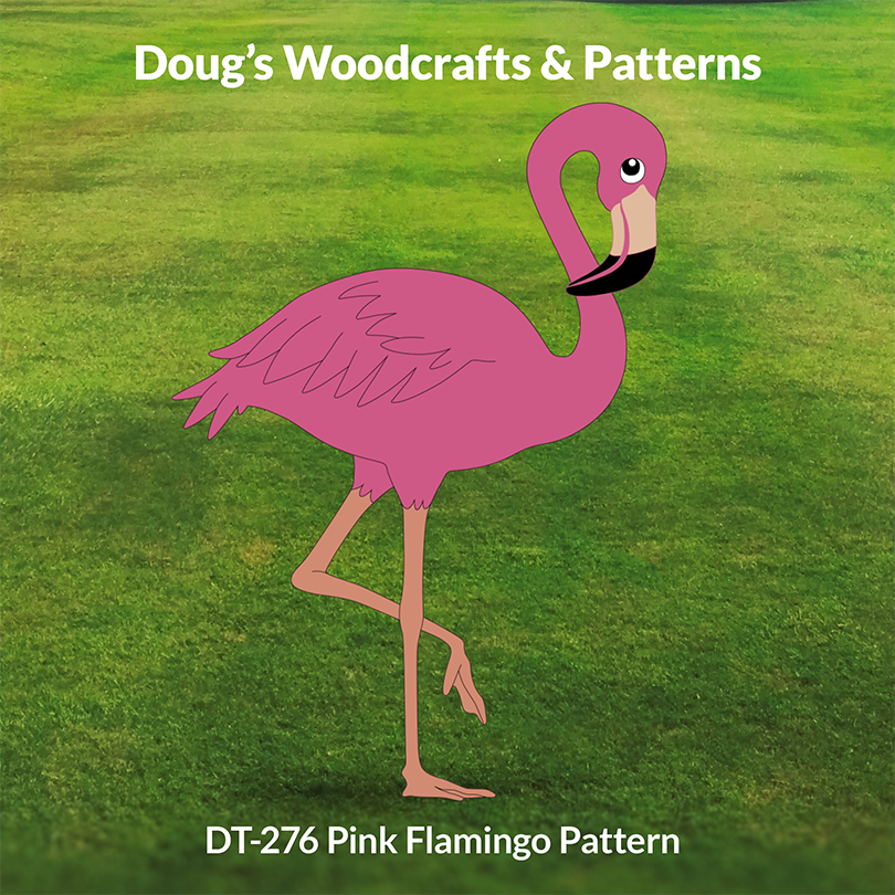 DT-276 Pink Flamingo Yard Pattern