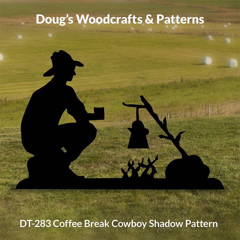 DT-283 Coffee Break Cowboy Shadow Pattern