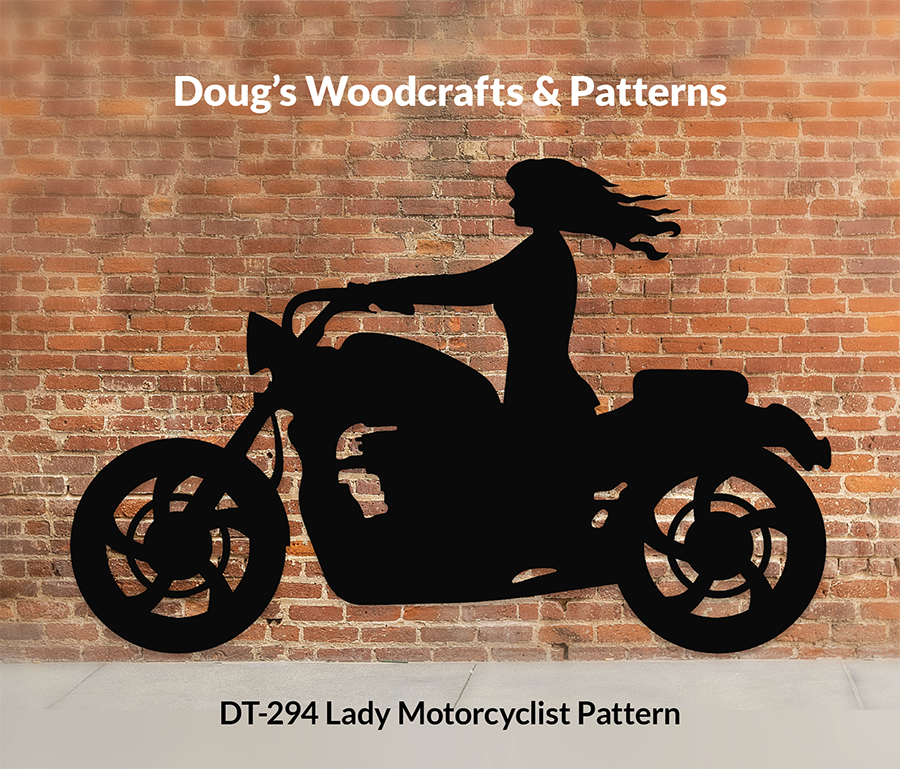 DT-294 Lady Motorcyclist Shadow Pattern