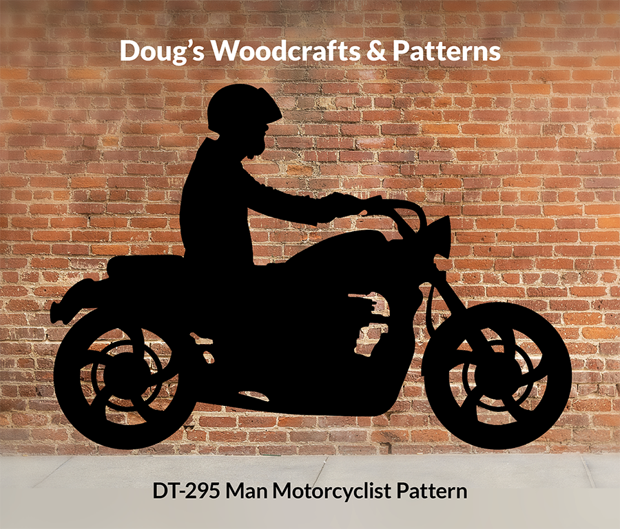 DT-295 Male Motorcyclist Shadow Pattern