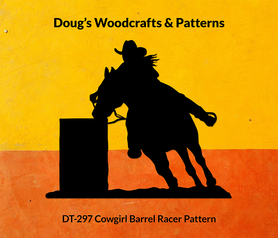 DT-297 Cowgirl Barrel Racer Shadow Pattern