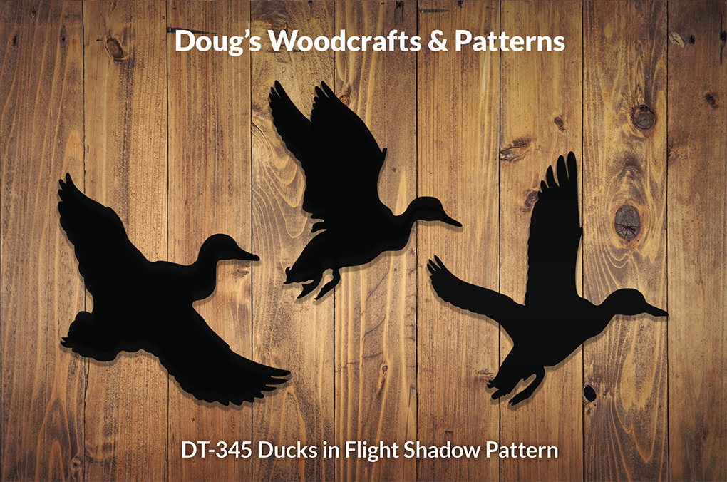 DT-345 Ducks In Flight Shadow Pattern