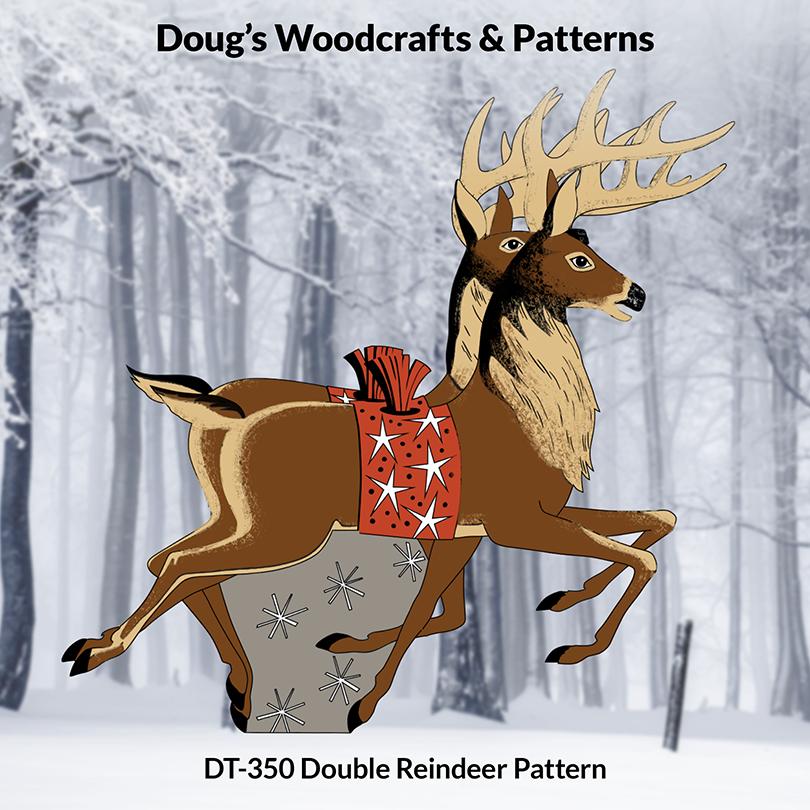 DT-350 Double Reindeer Set Pattern