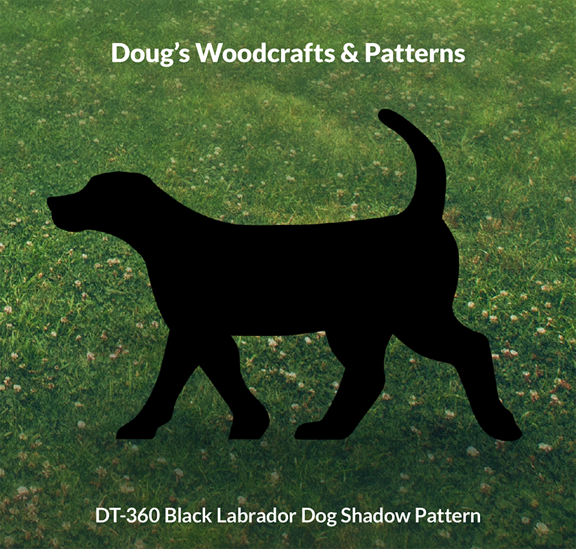 DT-360 Black Labrador Dog Shadow Pattern