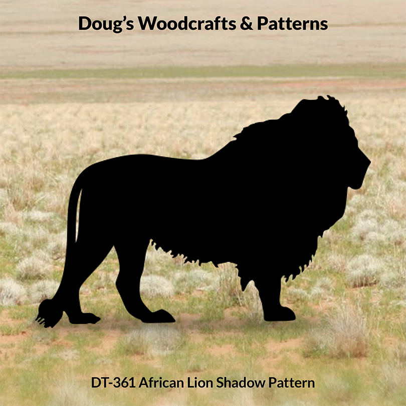 DT-361 African Lion Shadow Pattern