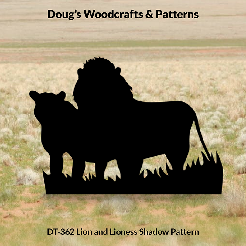 DT-362 Lion & Lioness Shadow Pattern